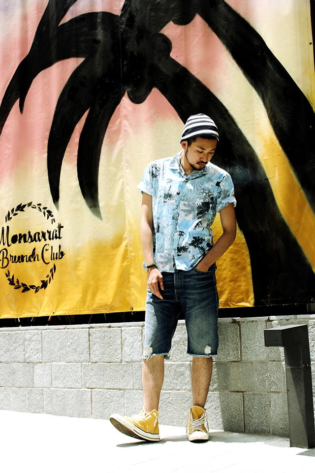 "Gitman Vintage ""Tropes of Summer"" S/S Camp Shirts size M 23,544yen"