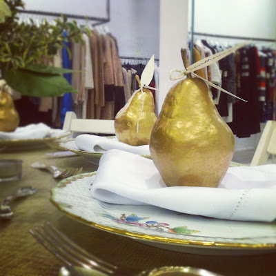 Pear placecard holders Herend china