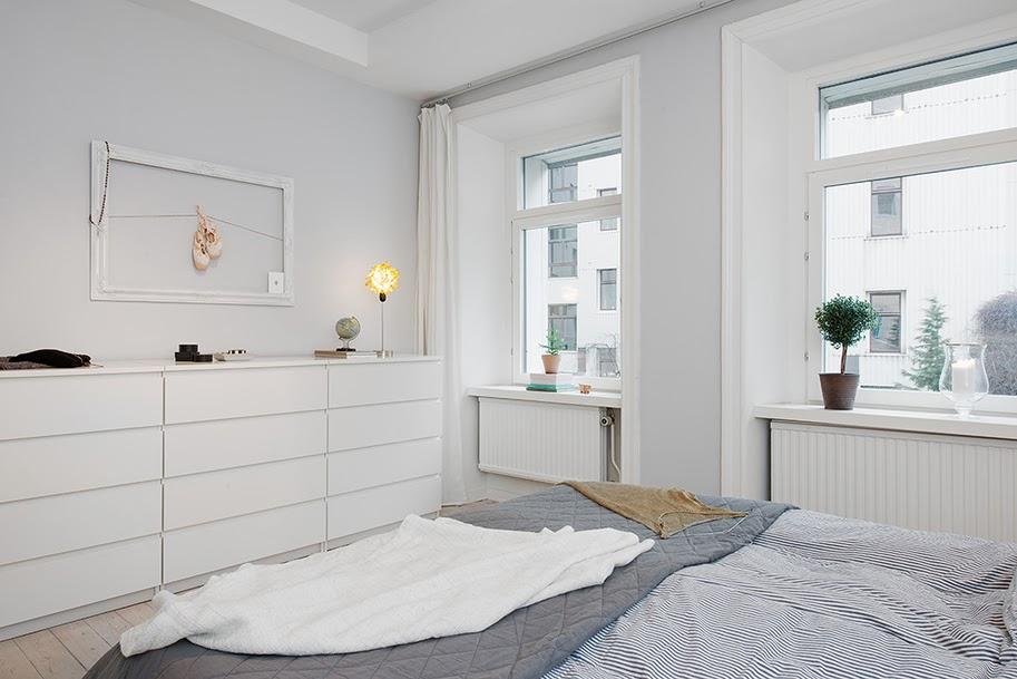 apartament de 3 camere amenajat 238n alb negru și gri