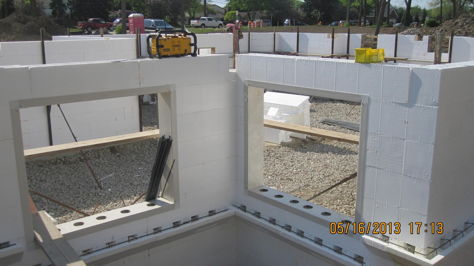 Energy efficient building network installing insulating for Icf basement