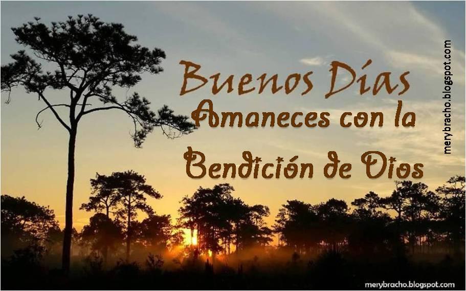 Postal cristiana Buenos Días de Esperanza y confianza, bendición amigo, amiga por un nuevo día