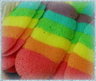 resep cara membuat lidah kucing pelangi rainbow