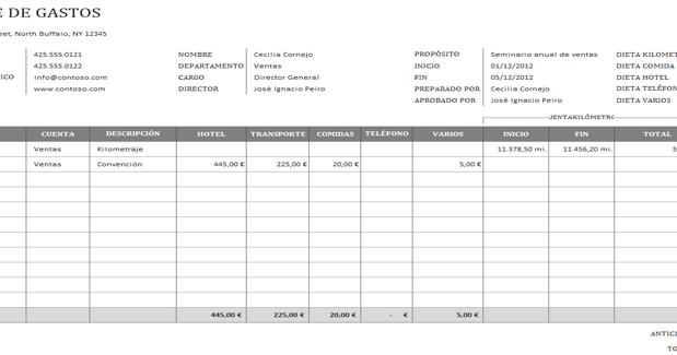 free online gratis  descargar informe de gastos de viaje de negocios  plantillas  modelos