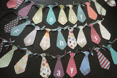 fathers-day-gift-ideas-fathers-day-tie-garland-diy-tutorial #thefoleyfamblog