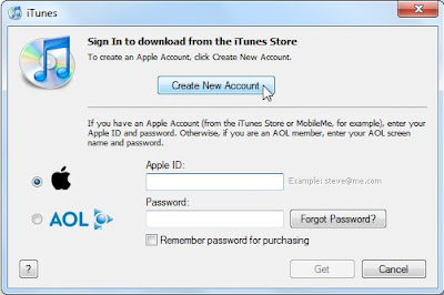create a new apple account