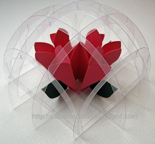acetate sliceform paperweight