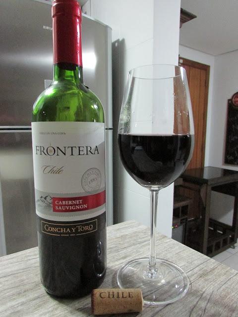vinho, Frontera, carbernet sauvignon