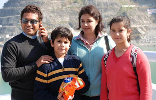 sachin tendulkar family photos