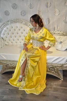 caftan de mariage jaune