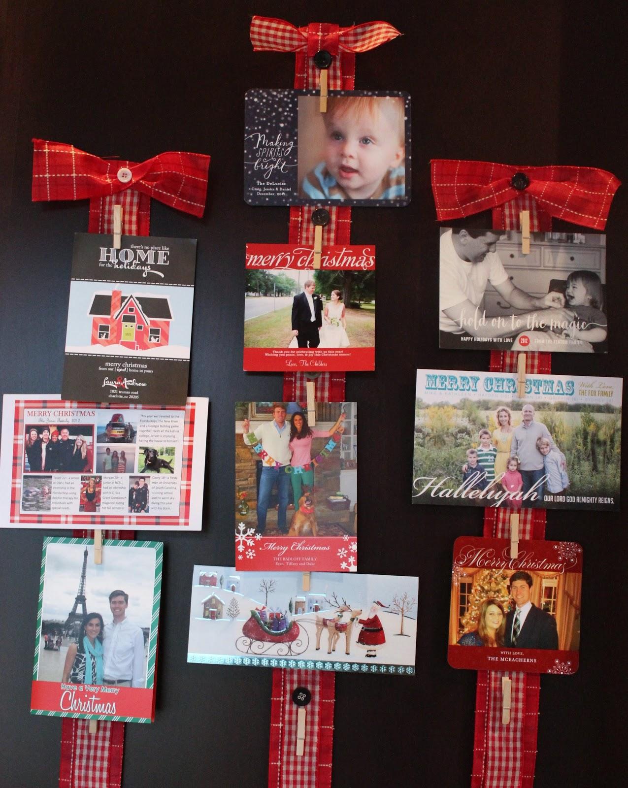 christmas card display carolina charm. Black Bedroom Furniture Sets. Home Design Ideas