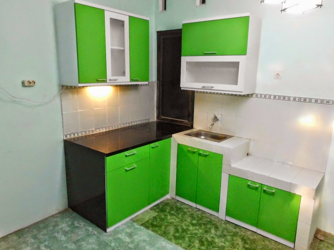 Pesanan kitchen set l shaped mr yudhi semarang for Kitchen set hijau