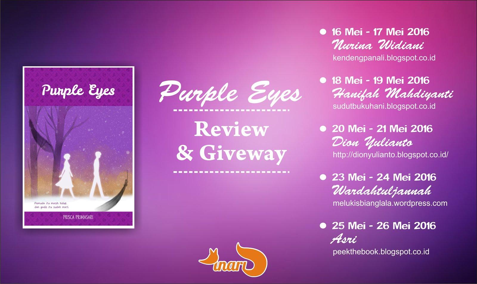 Blogtour Purple Eyes (16-17 Mei 2016)