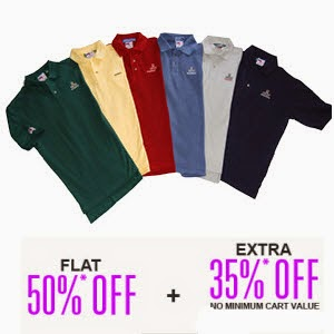 Jabong: buy Tshirts, Tops & Polos minimum 50% + 35% off, price from Rs. 119