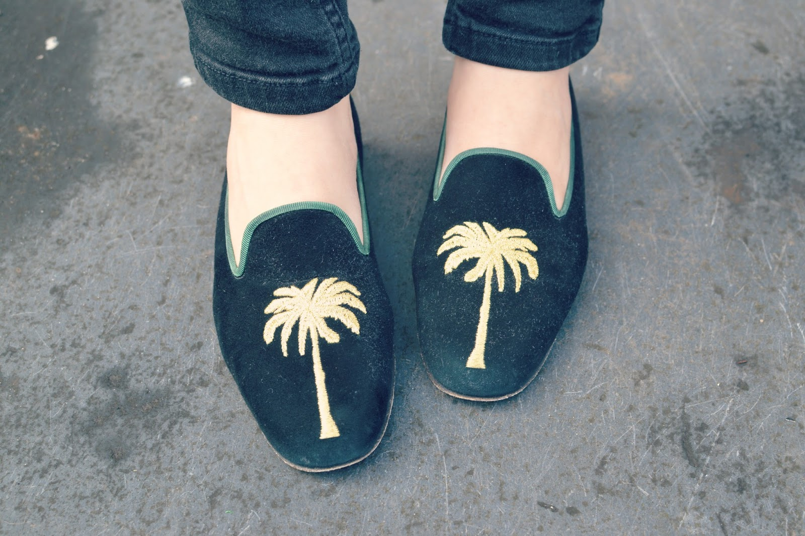 penelope chilvers palm tree slippers alexa chung