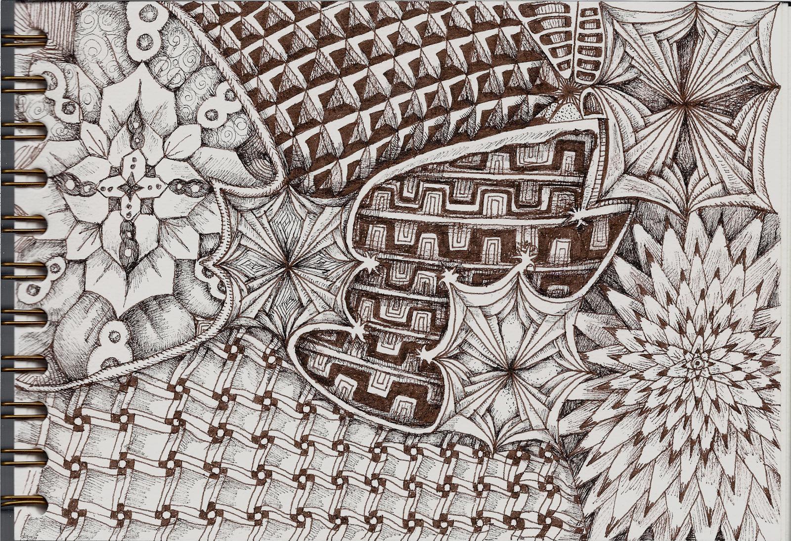 new tangle pattern nolashrim review carnet de voyage. Black Bedroom Furniture Sets. Home Design Ideas