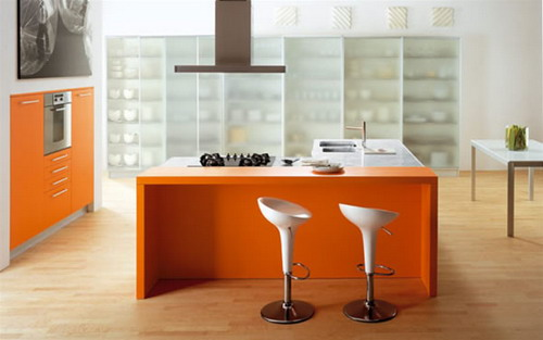 orange italian modern kitchen color scheme ideas