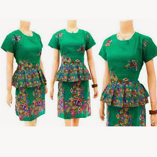 DB3256 Model Baju Dress Batik Modern Terbaru 2013