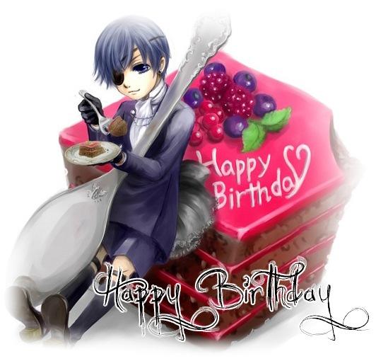 Аниме поздравления с днём рождения картинки