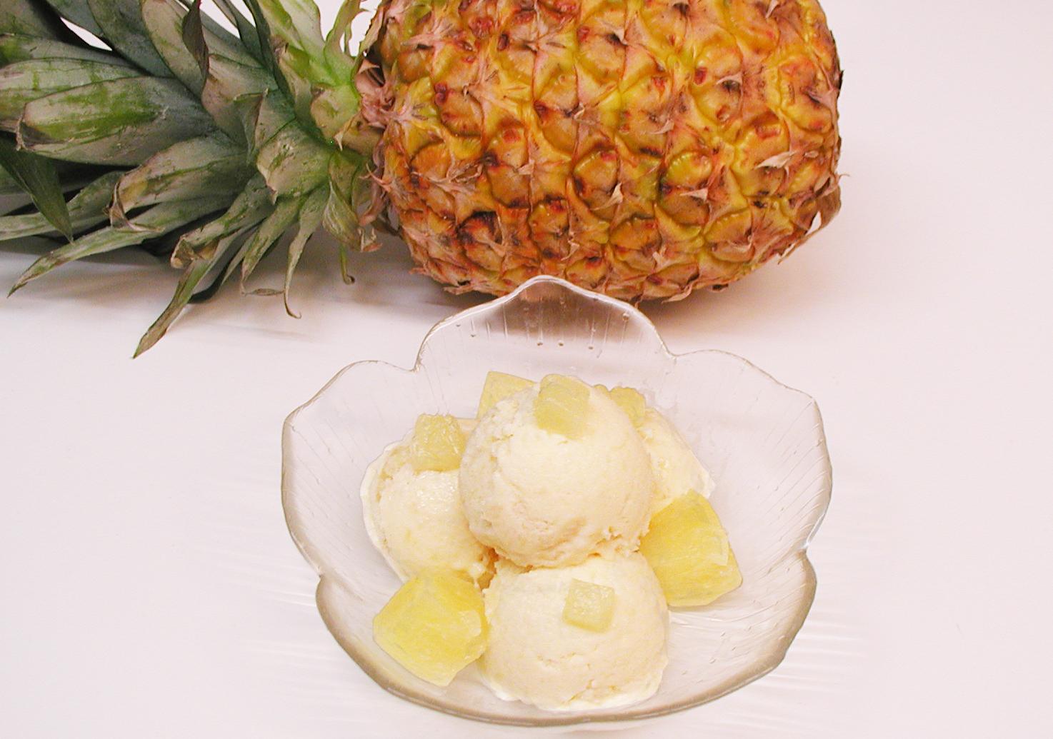 himmlische s igkeiten ananas eiscreme ohne eismaschine. Black Bedroom Furniture Sets. Home Design Ideas