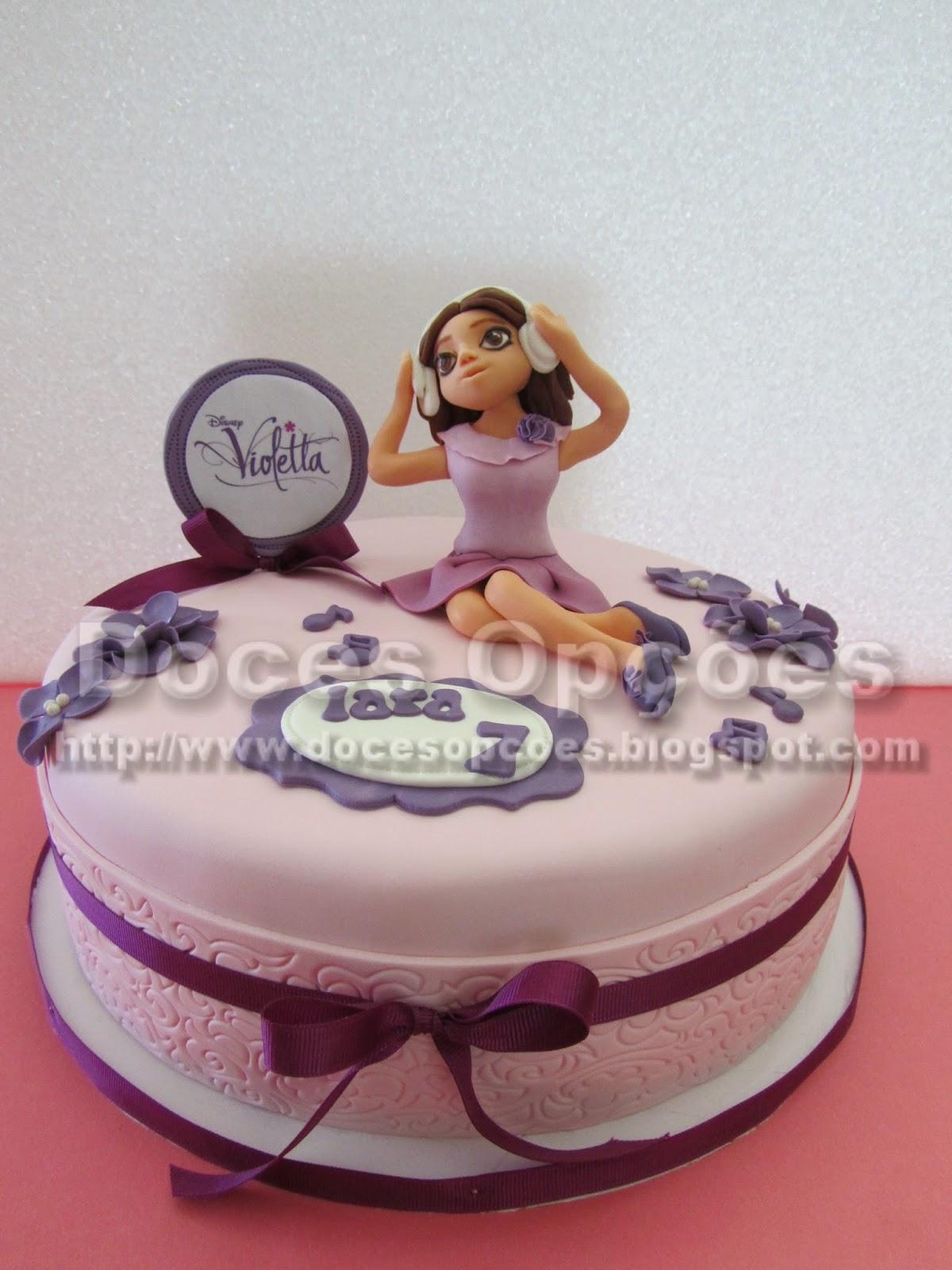 disney violetta cake