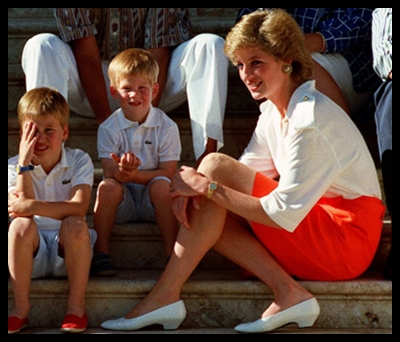 prince william and prince harry at diana. princess diana prince william