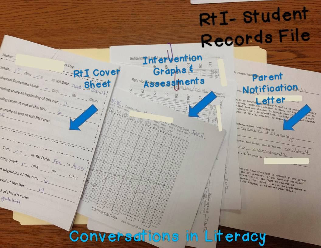 How to organize and manage student RtI files