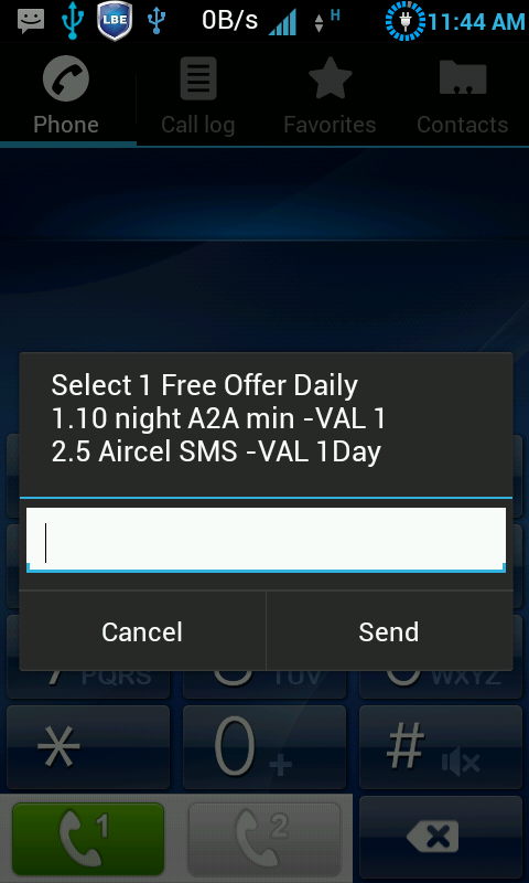 aircel daily free offer