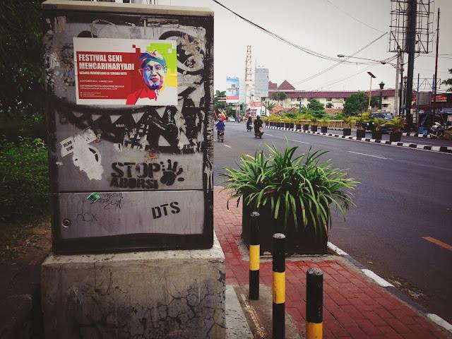 Street Art of Yogyakarta along Jalan Solo- Stop Abortion
