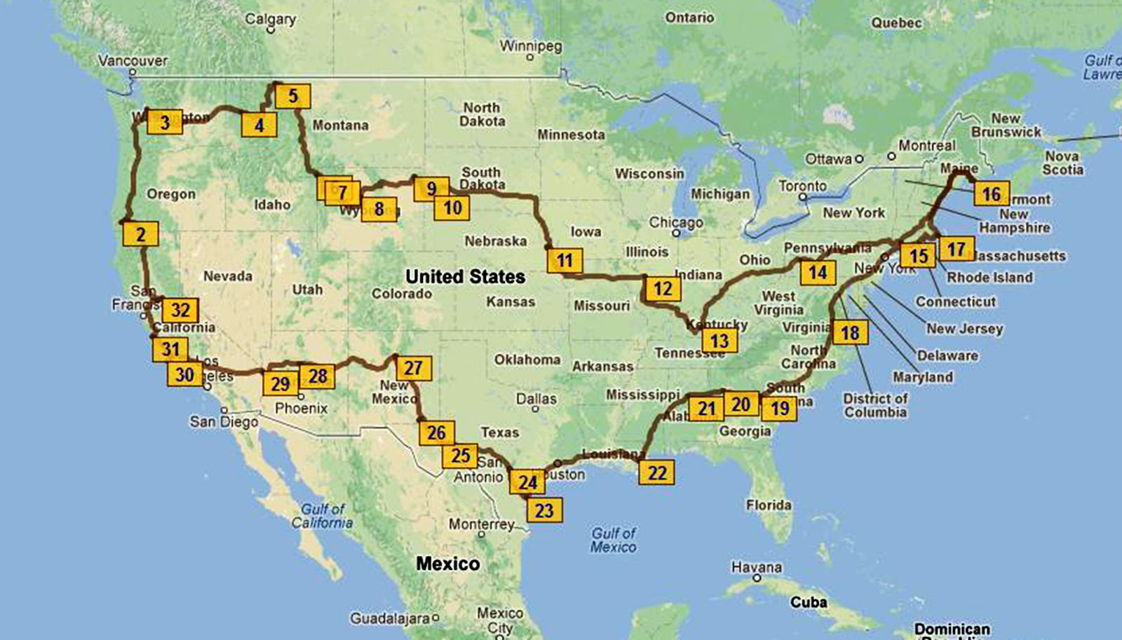 well we are exactly 3 months away from our around the us roadtrip we have most of ours stops planned and are getting pretty excited for our departure on