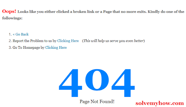 Make Professional 404 Error Page In Blogger