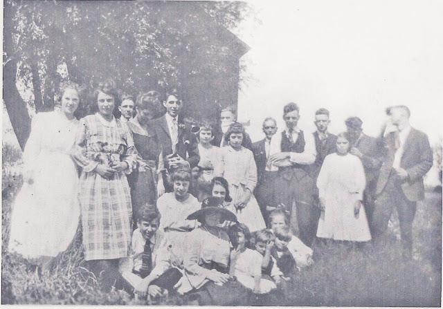 Spegiel, Tessier, Tacey, Family Reunion Circa 1920, Bay City MI