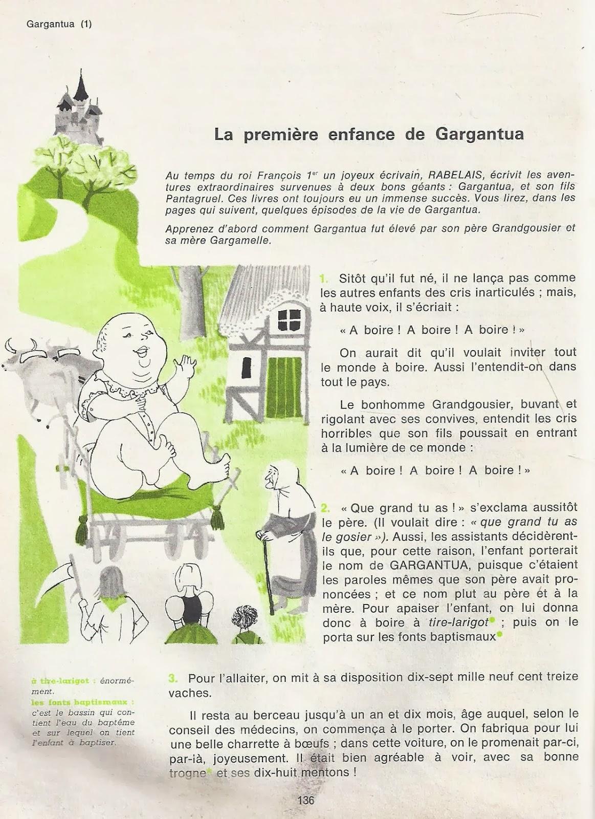 l éducation de gargantua