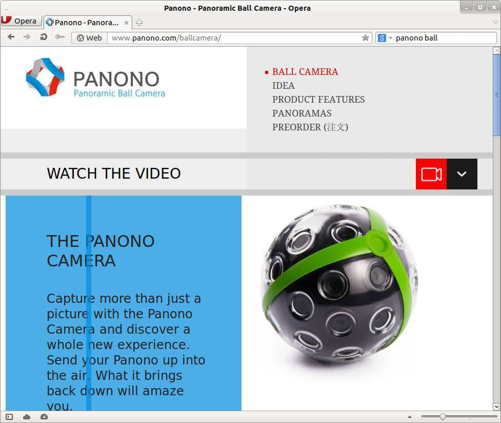 Panoramaxl Panorama Extralarge Overview Digital Panoramic Cameras Throw Your Ball Camera To Take Photos The Was Not Successfully Funded End Of May 2014 They Might Return Through A Different Channel