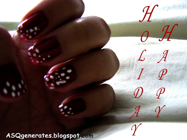 red and white nail polish nail tutorial