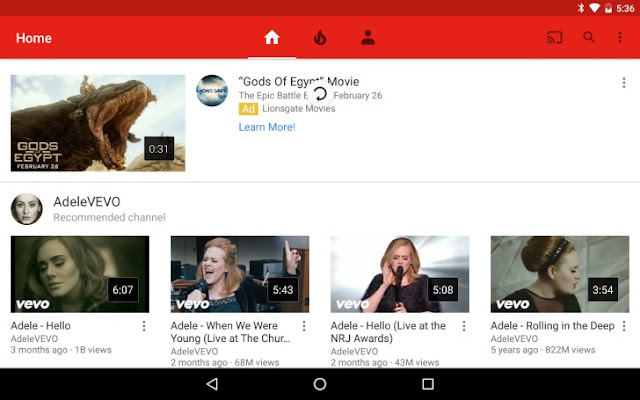 YouTube Got Pull To Refresh Animation For All YouTube Android Users : Download APK