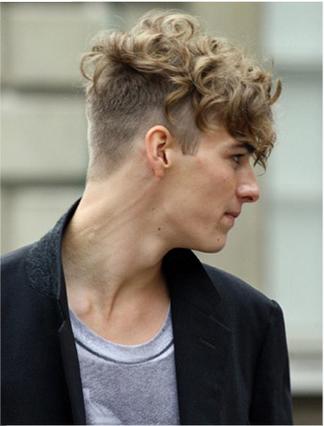 Model Gaya Rambut Pria Undercut untuk rambut keriting