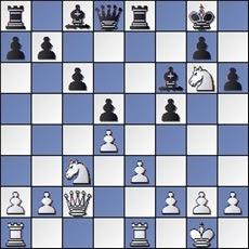 Partida de ajedrez Manolita Nacher y María Lluïsa de Zengotita, posición después de 17. Tfe1