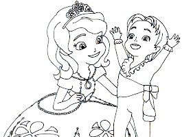 Cedric Sofia The First Coloring Pages