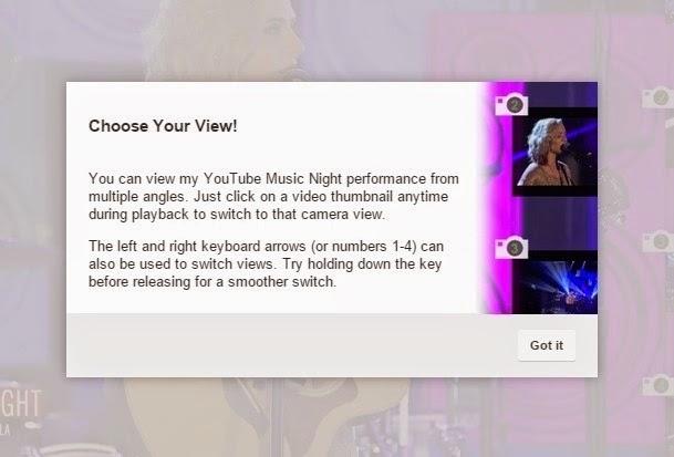 قامت منصة يوتيوب لمشاركة الفيديو بإضافة ميزة جديدة تسمح للمشاهد بالإنتقال بين الكاميرات ومشاهدة الفيديو من عدة زوايا  أثناء عرض الفيديو (هناك حاليا مقطع واحد فقط يدعم الميزة).