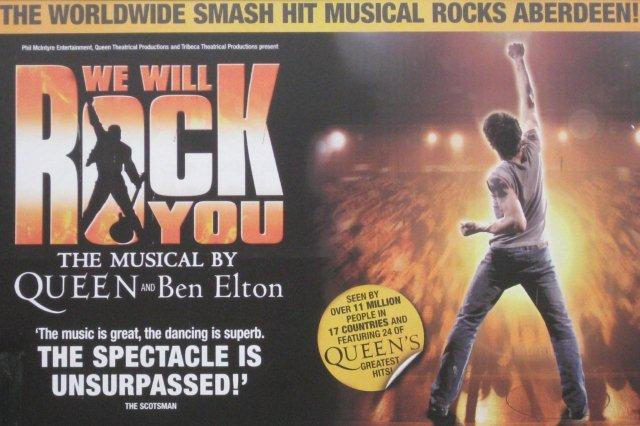Musical We Will Rock You en Aberdeen