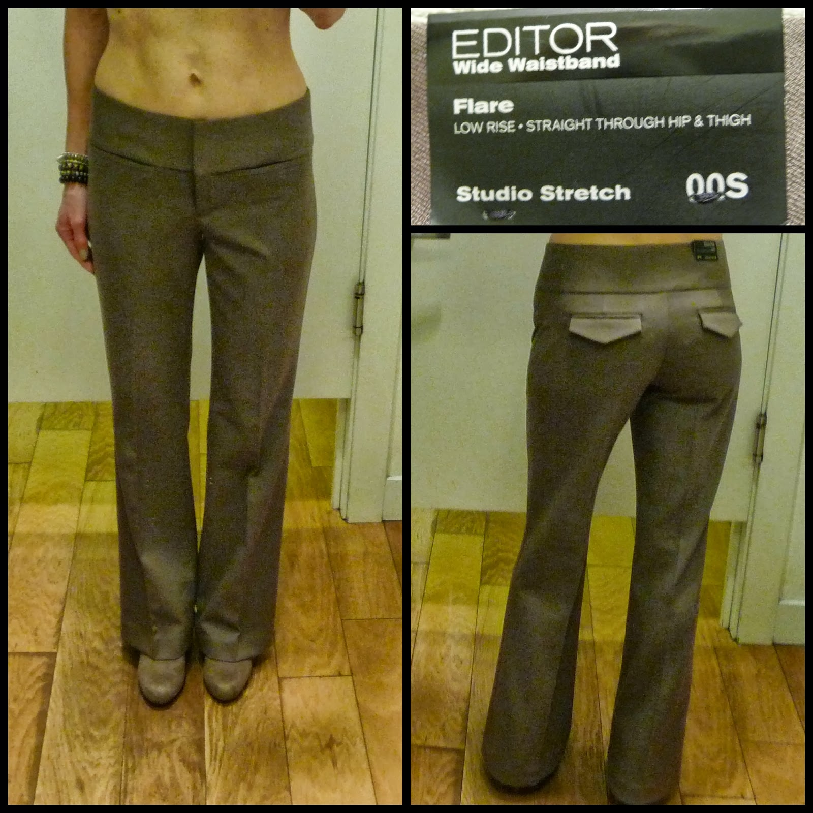 Express Editor Pants, Wide Waistband, Flare, Studio Stretch