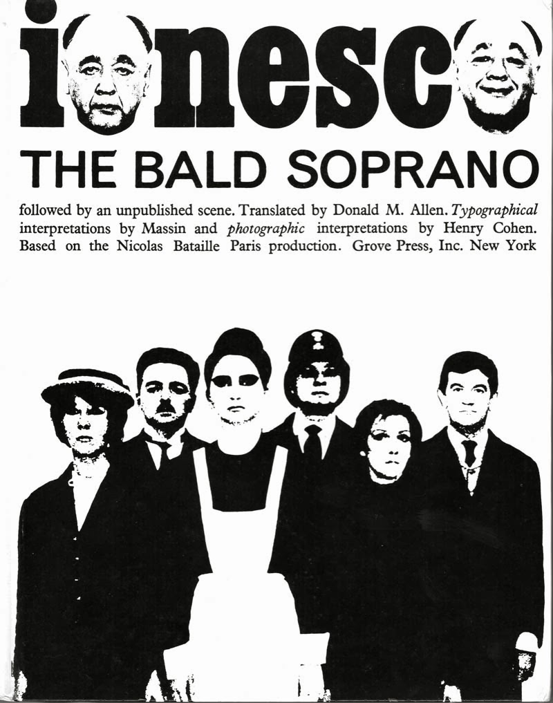 The Bald Soprano by Eugene Ionesco, Grove Press edition front cover