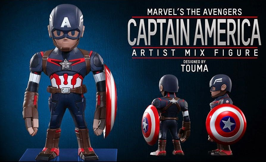 Marvel's Avengers Age of Ultron Artist Mix Figures Series 1 by Touma & Hot Toys - Captain America