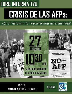 PUENTE ALTO:  FORO INFORMATIVO: CRISIS DE LAS AFPs