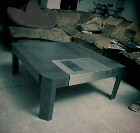 Floppy Disc Table