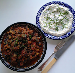 spiced aubergine salad