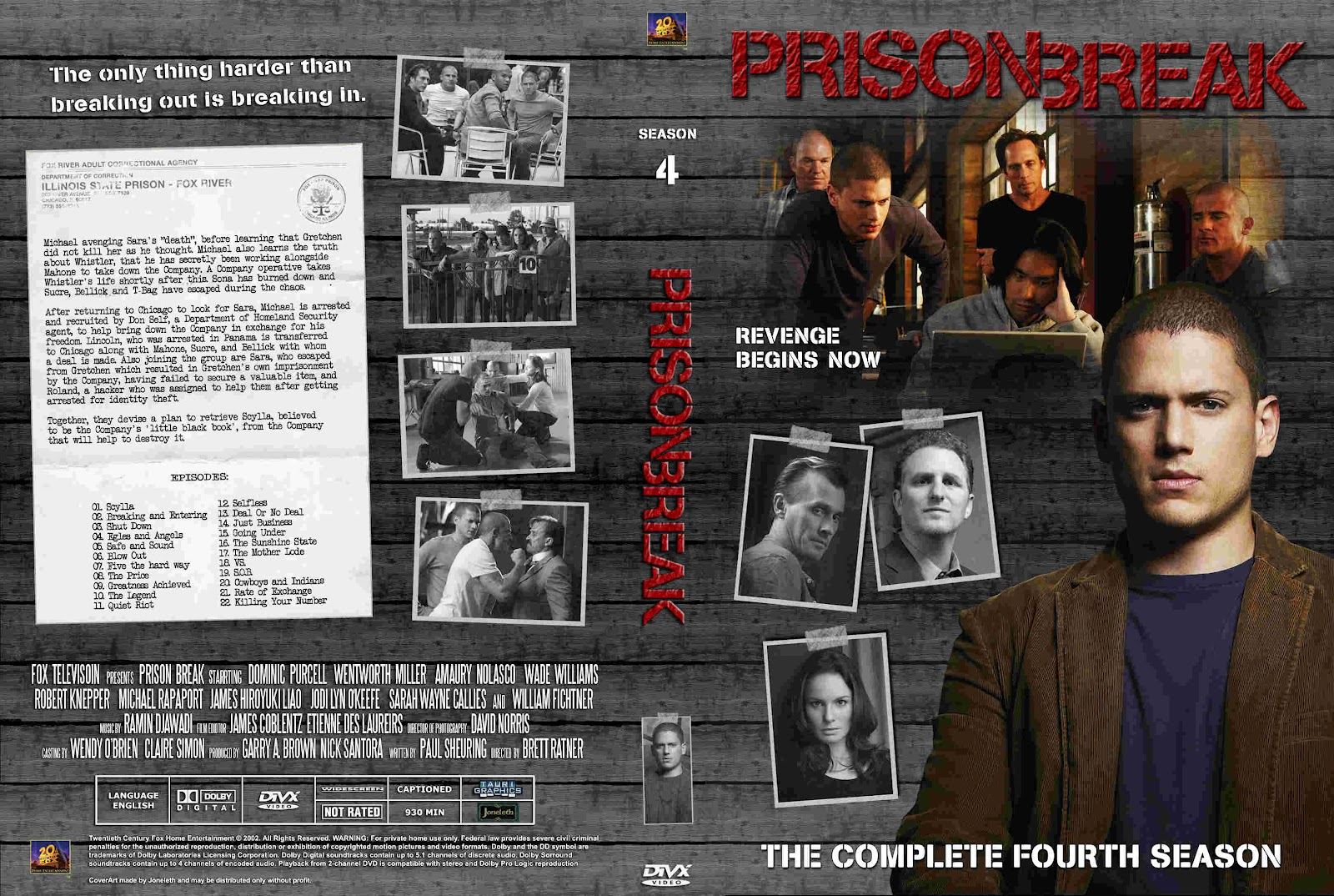 SUNNYHD..: PRISON BREAK 4 TEMPORADA 6 DISCOS -