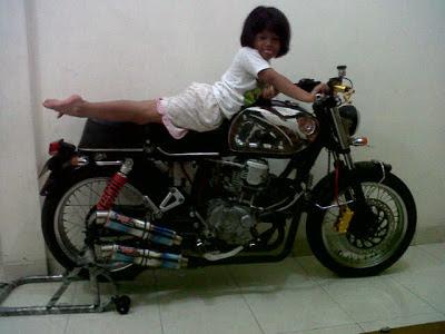 honda CB V twin scorpio 500cc semarang