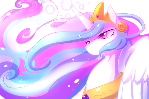Sprites just felt like drawing Princess Celestia