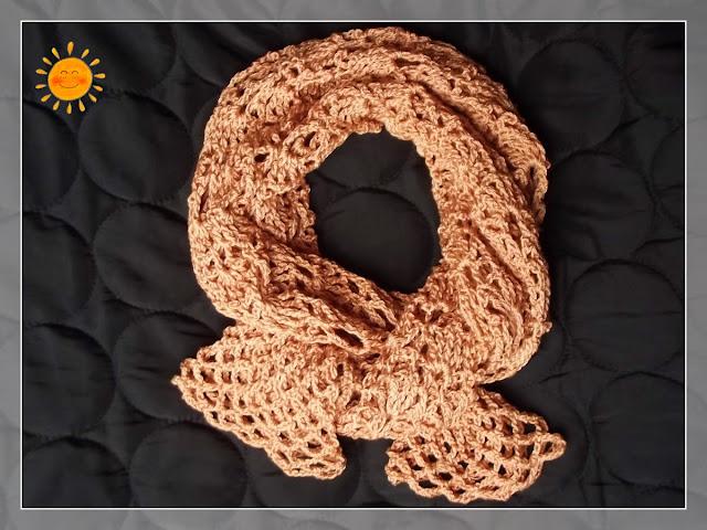 Golden Shrug. scarf??